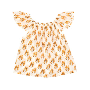Children of the Tribe - Feather Frill Sleeve Top