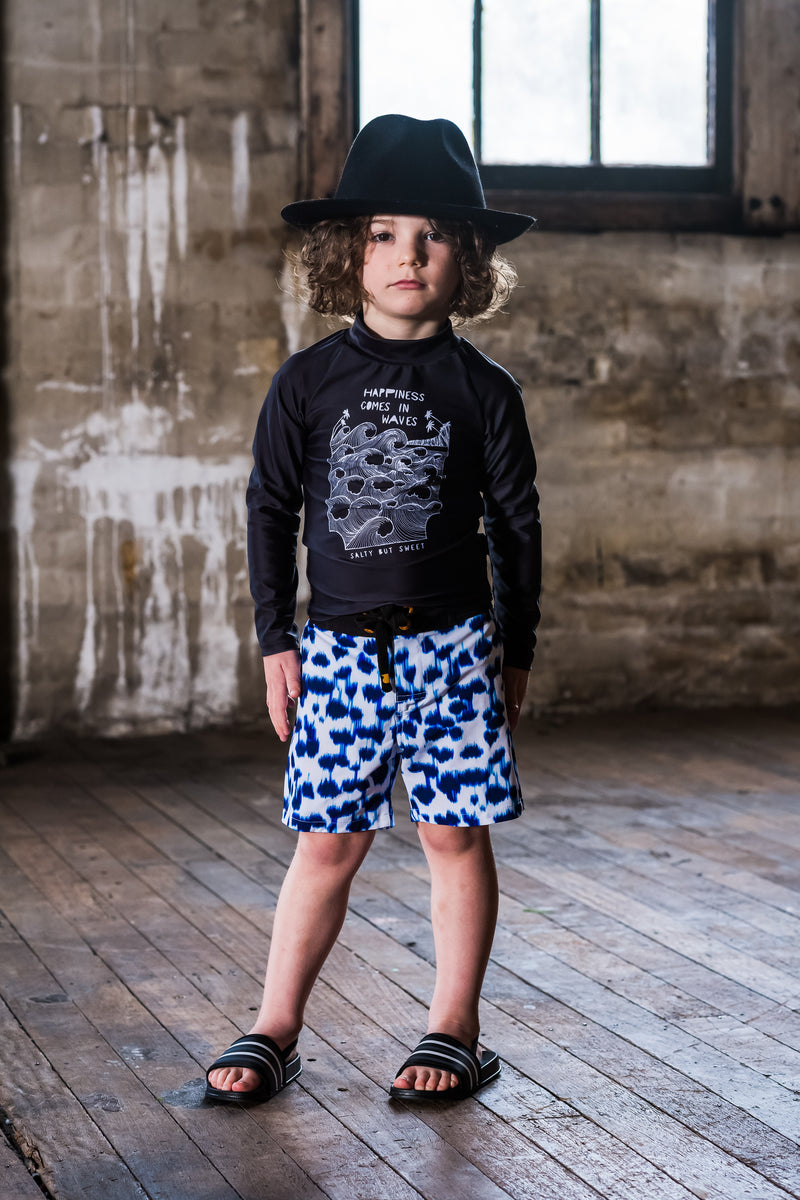 Rock Your Kid - Foam Boardshorts - White/Navy