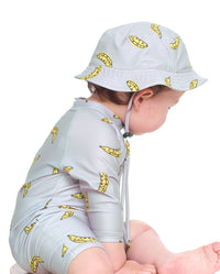 Band of Boys - Leopard Banana Baby Swim Hat - Grey
