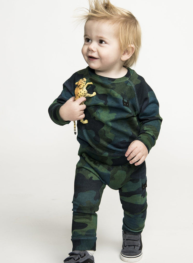 Mini Munster - In Disguise Crew - Camo