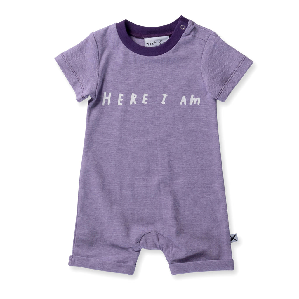 Minti Baby - Here I Am Brooklyn Suit - Lilac Motley