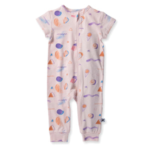 Minti Baby - Coloured Pencil Summer Zippy Suit - Ballet