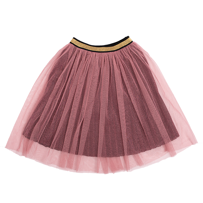 Rock Your Kid - Metallic Pink Shimmer Skirt - Pink