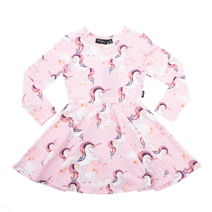Rock Your Kid - L/Sleeve Waisted Dress - Stargazer