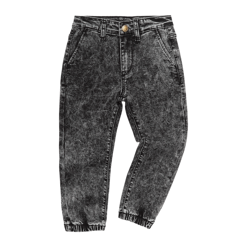 Rock Your Kid - Black Acid Wash Denim Jeans - Black Wash