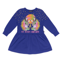 Rock Your Kid - Go Your Own Way L/S Dress - Blue