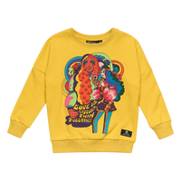 Rock Your Kid - Love is Groovy Sweatshirt - Yellow