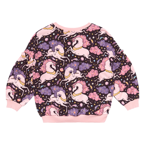 Rock Your Kid - Cosmic Unicorn Puff Sleeve Sweatshirt - Multi