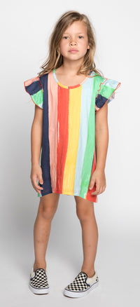 Missie Munster - Happy Dress - Rainbow Stripe