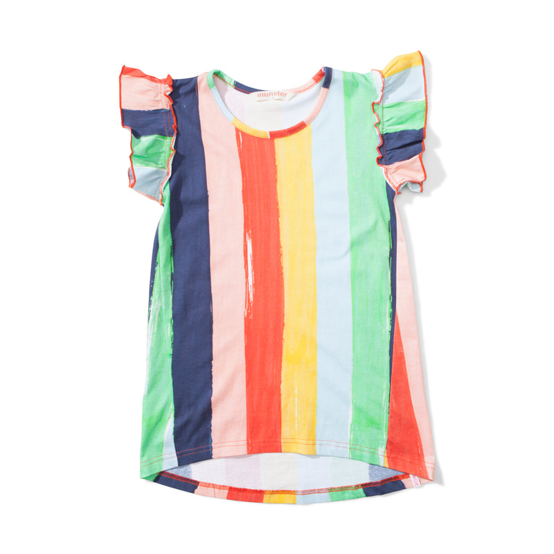Missie Munster - Happy Dress - Rainbow Stripe summer girls fashion