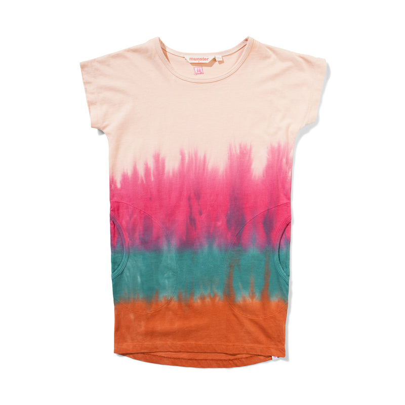 Missie Munster - Hippy Shake Dress - Blush Tye Dye girls summer fashion