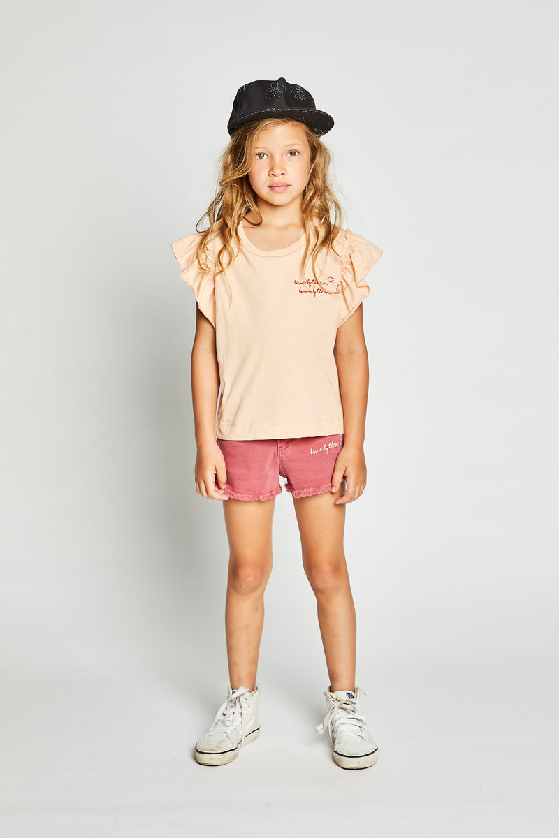 Missie Munster - Live Love Tee - Blush girls summer fashion