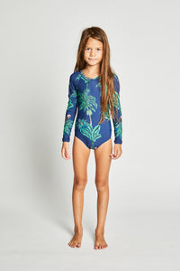 Missie Munster - Malibu L/Sleeved One Piece - Navy girls summer fashion swimwear