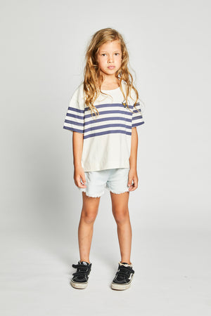 Missie Munster - Lotus Chambray Short - Bleached Blue girls summer fashion