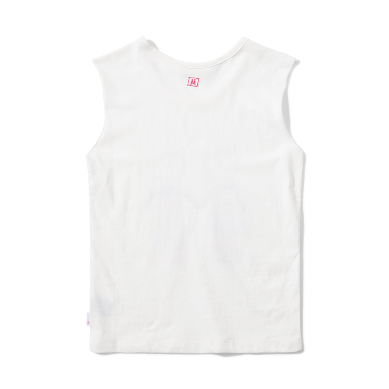 Missie Munster - No Worries Singlet - Cream summer girls fashion