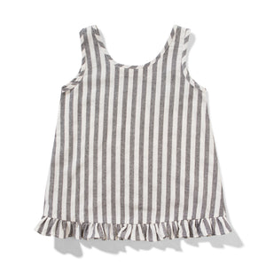 Missie Munster - Peeps Top - Grey Stripe girls summer fashion tee