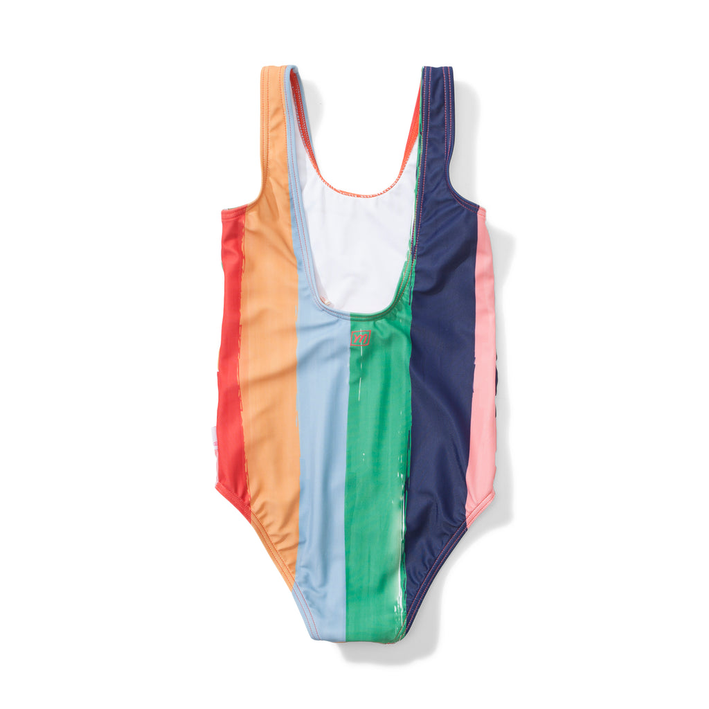 Missie Munster - Sunshine One Piece - Rainbow Stripe summer girls swimwear fashion