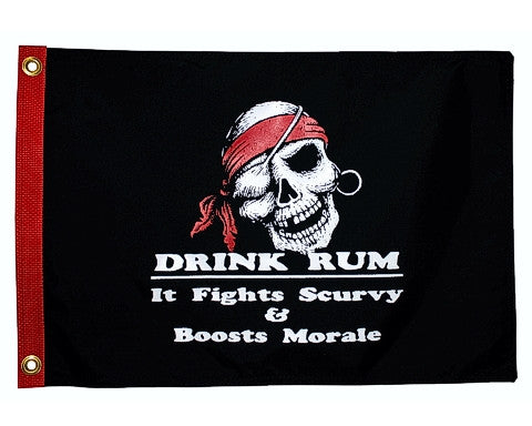 Drink Rum Pirate Flag