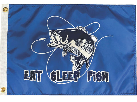 Eat Sleep Fish Flag