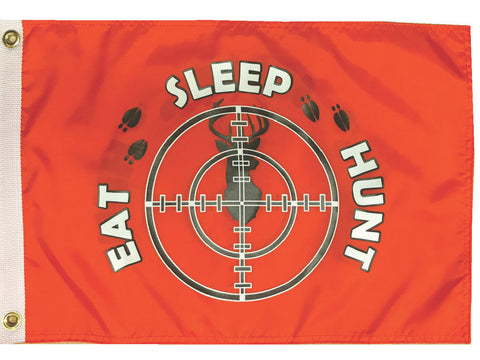 Eat Sleep Hunt Flag