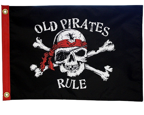 Old Pirates Rule Pirate Flag