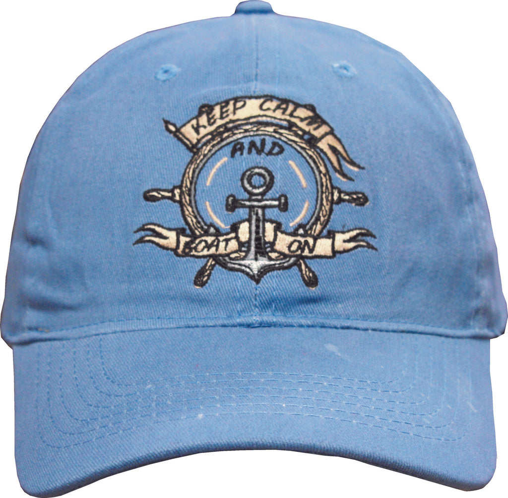 Keep Calm and Boat On- Cap
