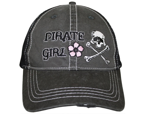 Pirate Girl Cap - Vintage Flower