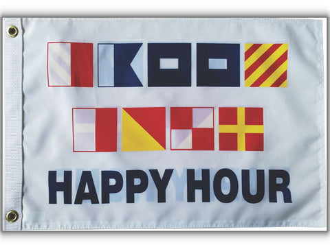 Nautical Signal Flag-Happy Hour