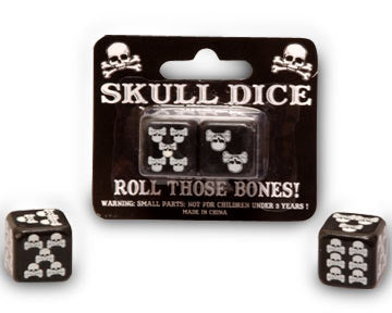 Skull and Bones Pirate Dice