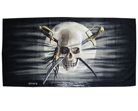 Moon Skull Beach Towel