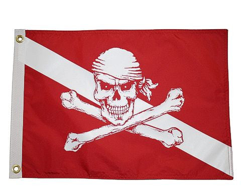 Pirate Diver Down Flag