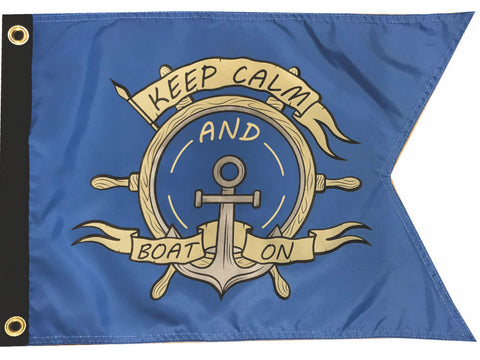 Nautical Flag- Keep Calm and Boat On