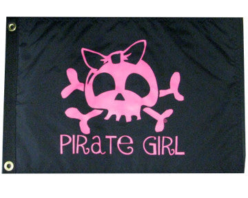 USA Made- Girly Pirate Skull Flag