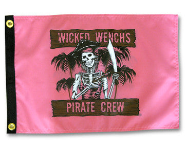Wicked Wench's Pirate Crew Flag