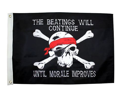The Beatings Will Continue Flag