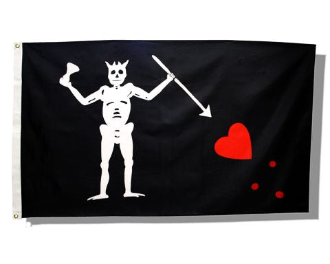 Edward Teach ( Blackbeard) Flag- 3ft x 5ft
