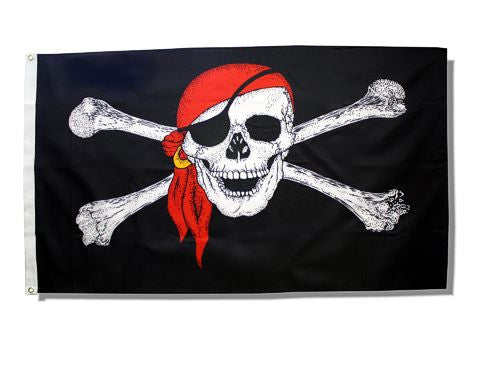 Red Bandana Pirate Flag 3ft x 5ft