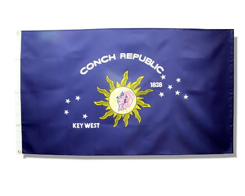 Conch Republic 3ft by 5ft flag
