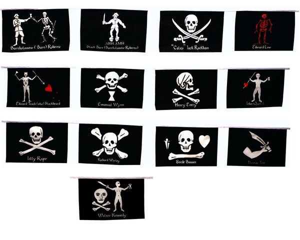 Historic Pirate Flag String – thepiratezone.com