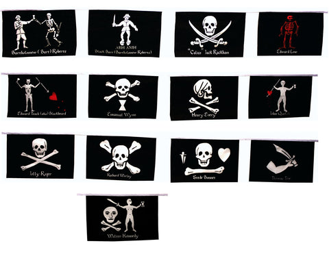 Historic Pirate Party String of Flags