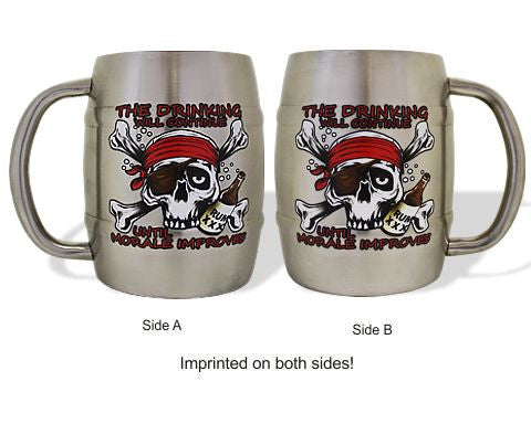 Pirate Mug- The Drinking Will Continue