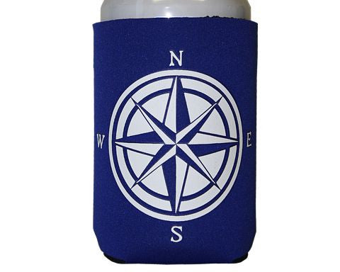 Nautical- Compass Can Cooler