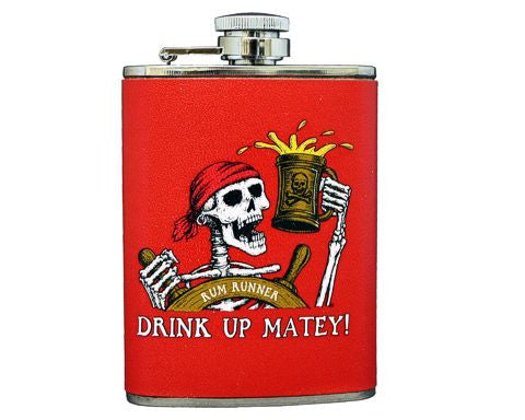 Drink Up Matey 4oz Flask