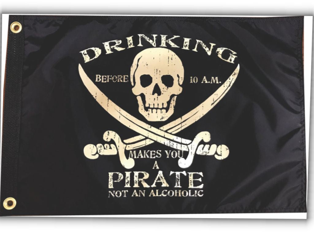 Drinking Before 10am Pirate Flag