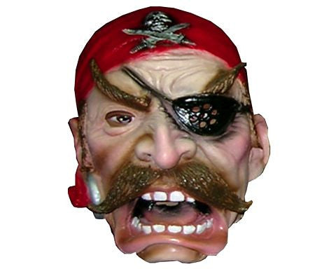 Red Bandana Pirate Mask