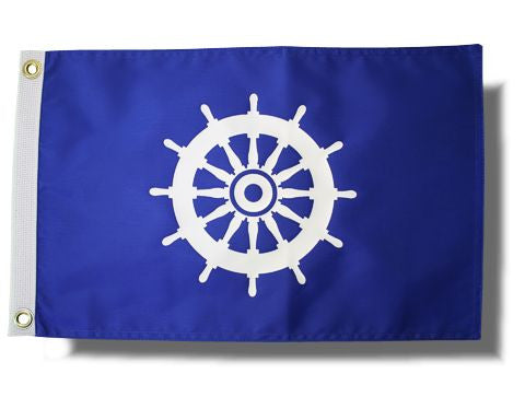 Ship's Wheel Flag