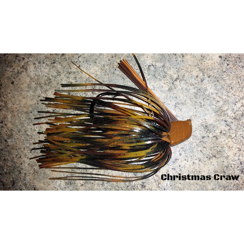 DepthCharge Flippin' Jig - Christmas Craw - T&T Tackle, Depth Charge Flippin' Jig  Bass Jigs, Spinner Baits, Swim Jigs, Buzzbaits, Custom, Rod Sleeves, Fish Scent, Bass Tackle, Trapper Hooks, Swing Jigs, Wobble Heads, Bass Tackle, Apparel, Fishing Line, Bass Braid, Fluorocarbon