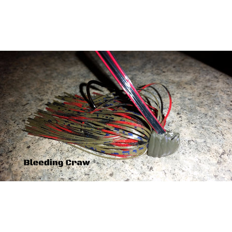 Bleeding Craw - T&T Tackle, Depth Charge Flippin' Jig  Bass Jigs, Spinner Baits, Swim Jigs, Buzzbaits, Custom, Rod Sleeves, Fish Scent, Bass Tackle, Trapper Hooks, Swing Jigs, Wobble Heads, Bass Tackle, Apparel, Fishing Line, Bass Braid, Fluorocarbon