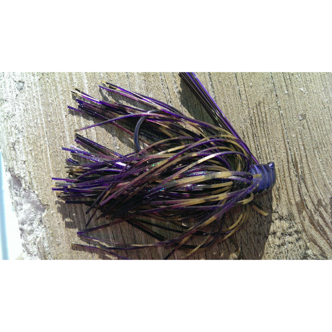 DepthCharge Flippin' Jig - Purple Rain - T&T Tackle, Depth Charge Flippin' Jig  Bass Jigs, Spinner Baits, Swim Jigs, Buzzbaits, Custom, Rod Sleeves, Fish Scent, Bass Tackle, Trapper Hooks, Swing Jigs, Wobble Heads, Bass Tackle, Apparel, Fishing Line, Bass Braid, Fluorocarbon