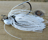 Tremor Jig - White - T&T Tackle, Tremor Jigs  Bass Jigs, Spinner Baits, Swim Jigs, Buzzbaits, Custom, Rod Sleeves, Fish Scent, Bass Tackle, Trapper Hooks, Swing Jigs, Wobble Heads, Bass Tackle, Apparel, Fishing Line, Bass Braid, Fluorocarbon